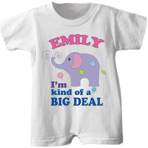 "Personalized ""Big Deal"" Romper"