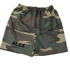 Personalized Camo Baby's First Boxer Shorts