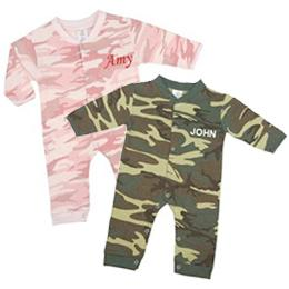 Personalized Camo Coveralls for Twins