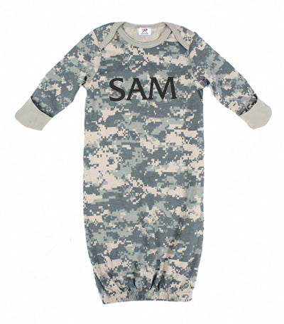 Personalized Camo Infant Gown