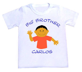 Personalized Character Big Brother Tee Shirt