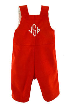 Personalized Custom Holiday Corduroy Romper