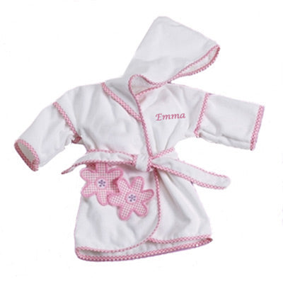 Personalized Daises Bath Robe