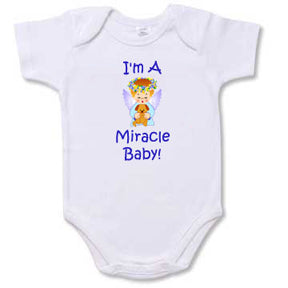 "Personalized ""I'm A Miracle Baby!"" Creeper"