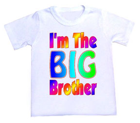I'm the Big Brother Rainbow Tee Shirt