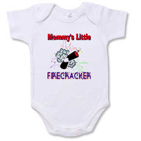 "Personalized ""Mommy's Little Firecracker"" Creeper"