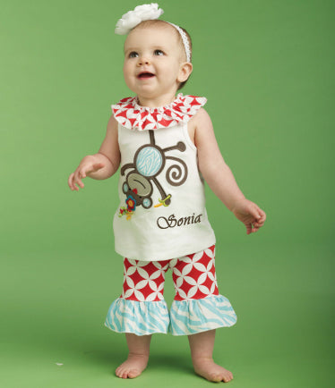 Personalized Monkey Tunic and Capri Legging Set