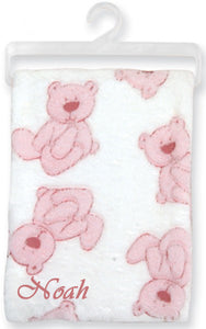 Personalized Plush Bear Blanket