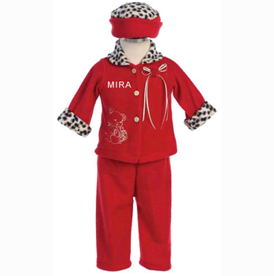 Personalized Red Top & Leggings Set
