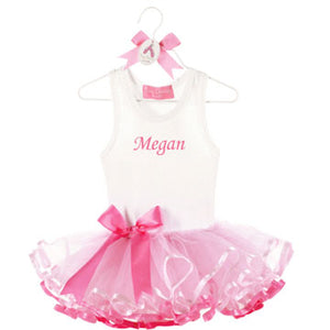 Personalized Ribbon Tutu Dress