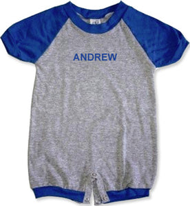 Personalized Royal Boys Tee Romper