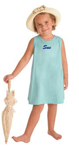 Personalized Sky Blue Tank Dress