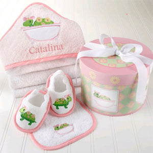 Personalized Tillie the Turtle Hooded Towel Gift Set