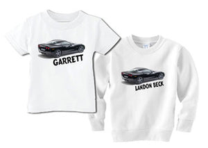 Personalized Tee for the Littlest Corvette Fan