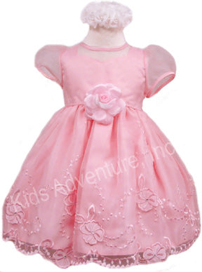 Pink Organza Fancy Party Dress