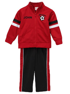 Personalized Red Track Jacket & Pants