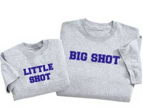 "Set of ""Big Shot"" & ""Little Shot"" Tees"
