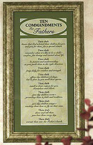 """Ten Commandments for Fathers"" Framed Print"
