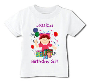 Happy Birthday Girl Tee Shirt