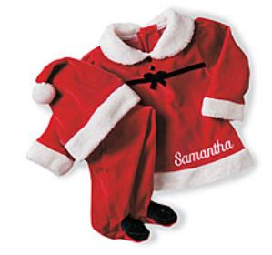 Personalized 1st Christmas Girls Santa Suit