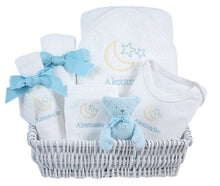 Personalized Luxury Blue Lullaby Layette Baskets