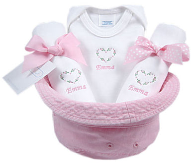 Personalized Baby Heart Bucket Hat