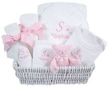 Personalized Luxury Dainty Daisy Layette Basket