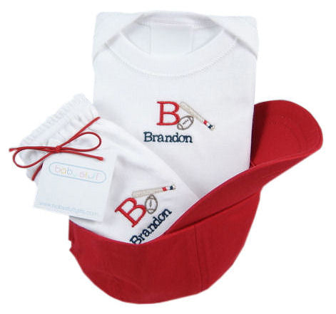 Personalized Baby Baseball Gift Set