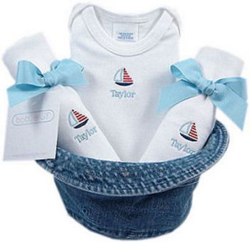 Personalized Little Sailor Bucket Hat Gift Set