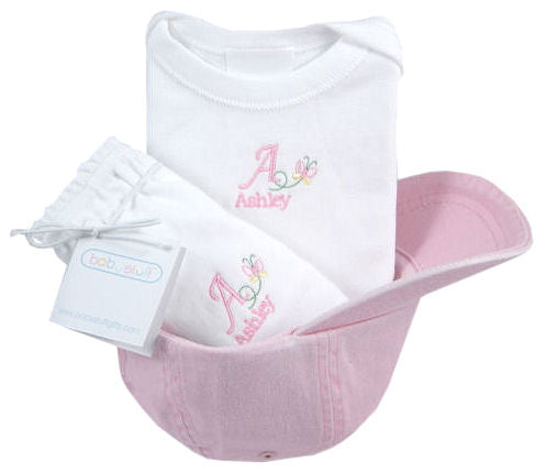 Personalized Butterfly Twill Cap Set