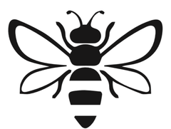 Bee icon representing our commitment to supporting bees