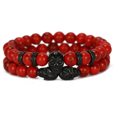 2pce Red Skull Stack - xquisitjewellery