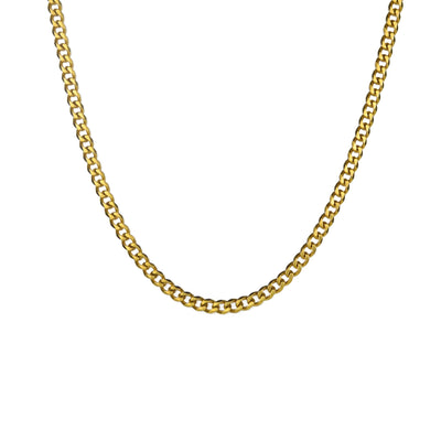 Gold Cuban Necklace - xquisitjewellery