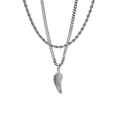 Angel Wing Necklace Set - xquisitjewellery