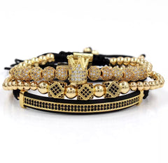 Luxury 3 piece Crown Royal Gold Set - xquisitjewellery