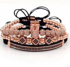 Luxury 3 piece Crown Royal Rose Gold Set - xquisitjewellery