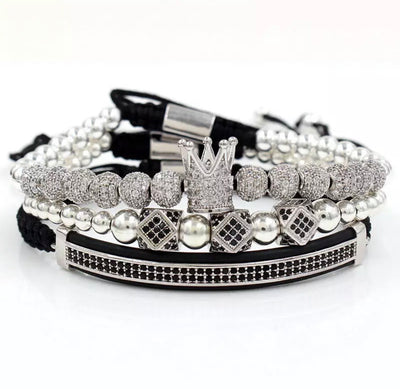 Luxury 3 piece Crown Royal Silver Set - xquisitjewellery
