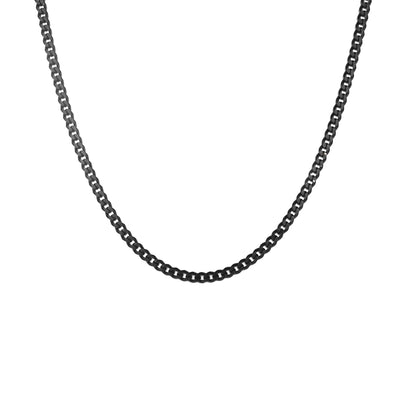 Jet Black Cuban Necklace - xquisitjewellery