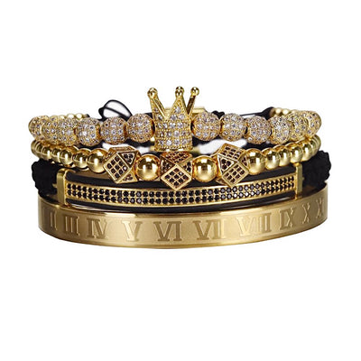 Luxury 4 Piece Crown Royal Set - xquisitjewellery