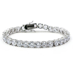 5mm White Gold Tennis Bracelet - xquisitjewellery