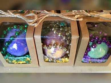 Mardi Gras Bath Bomb in Gift Box