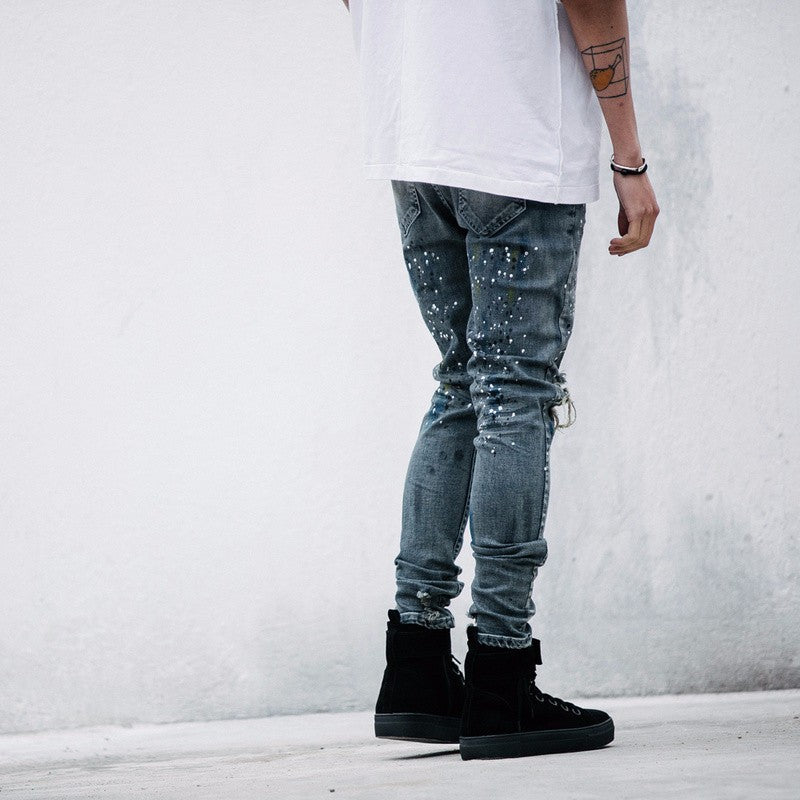 Splash-Inked Jeans