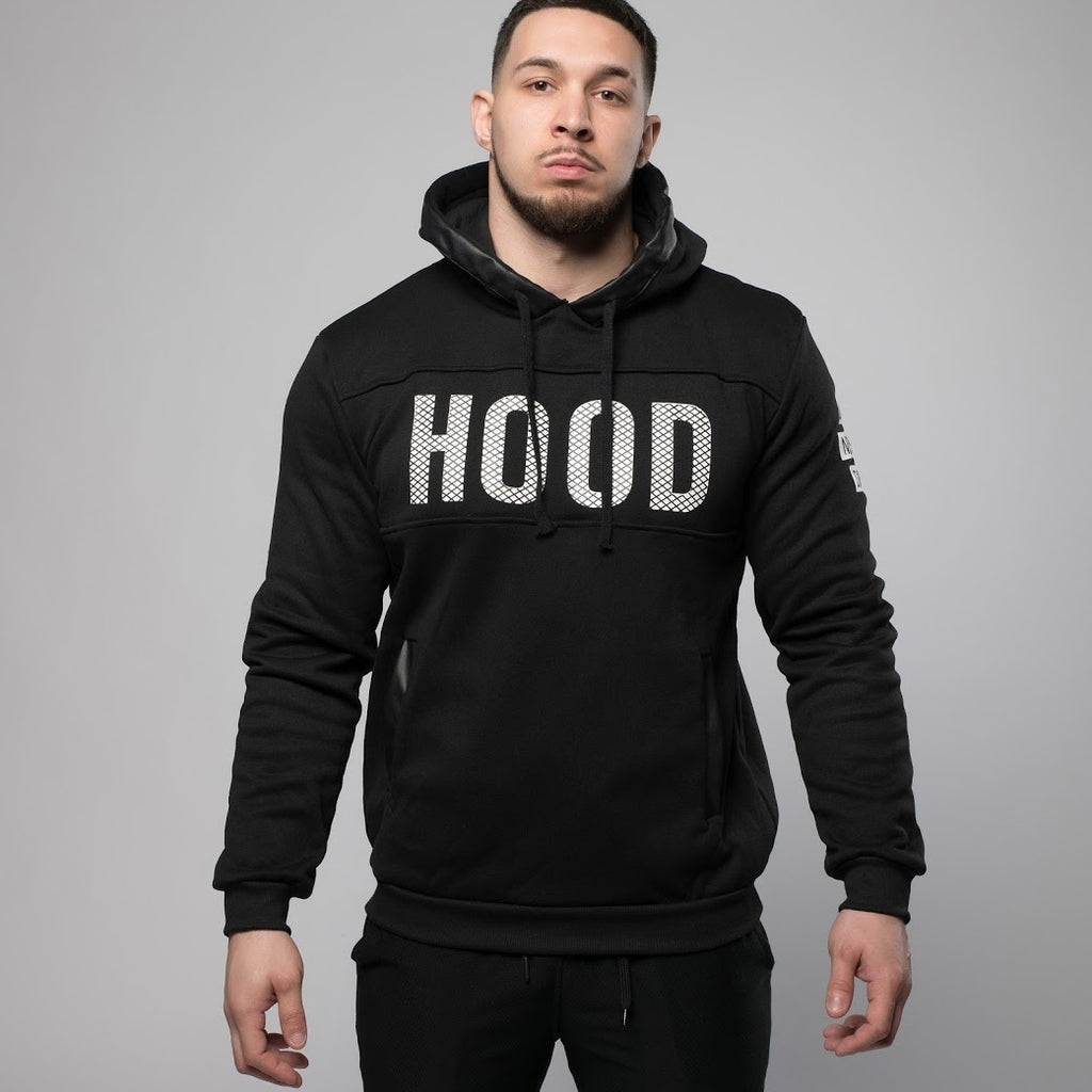 Printed Hooded Pullover