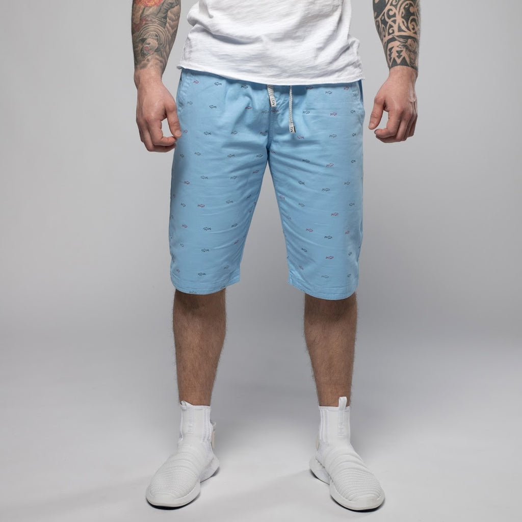 Light Blue Beach Shorts