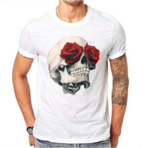Rose-Eyed Skull T-Shirt