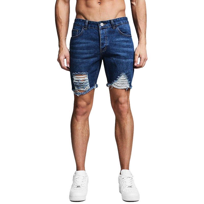 Carlos Distressed Denim Shorts