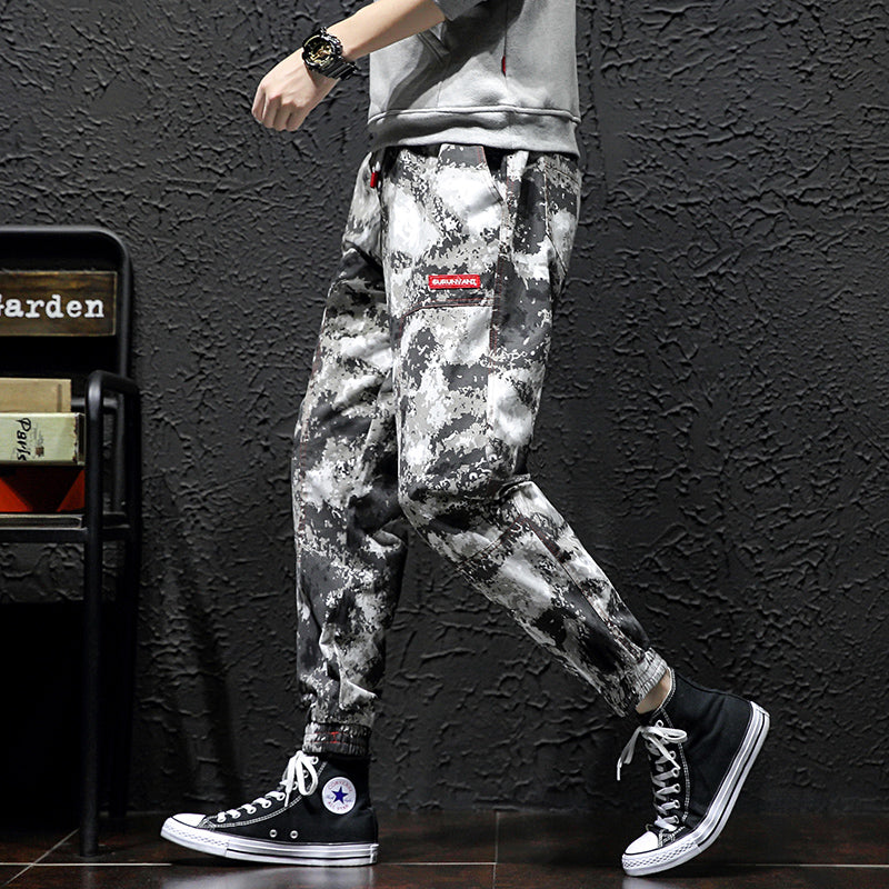 Fletcher Trendy Black & White Camouflage Jeans