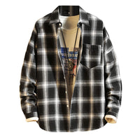Long Sleeve Flannel Button-Down Shirt