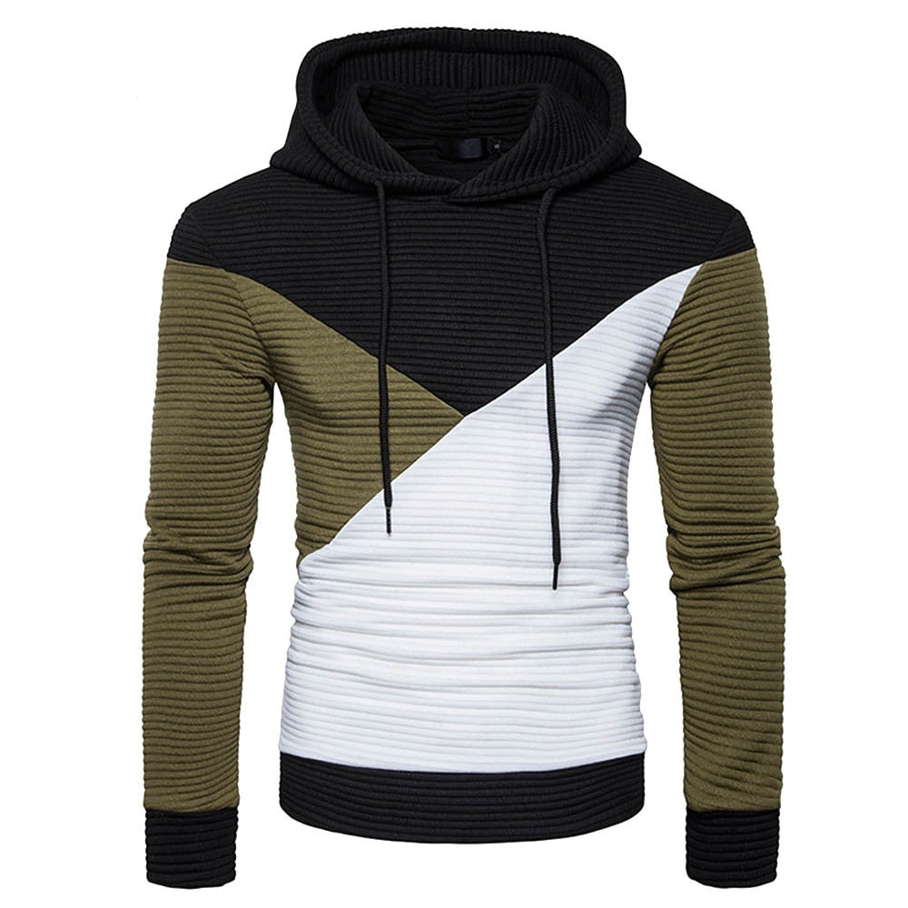 Colorblock Hooded Sweatshirt