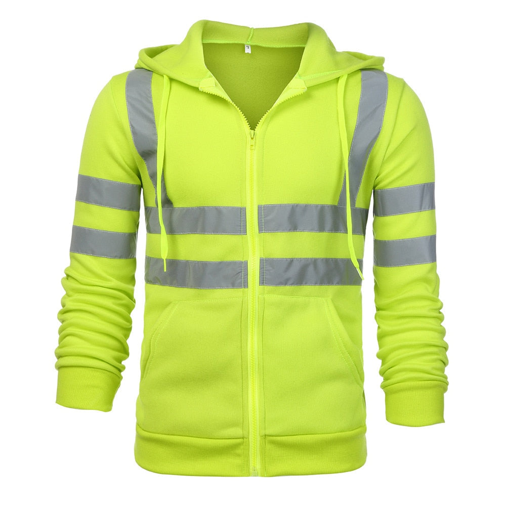 High Visibility Zip Up Hoodie